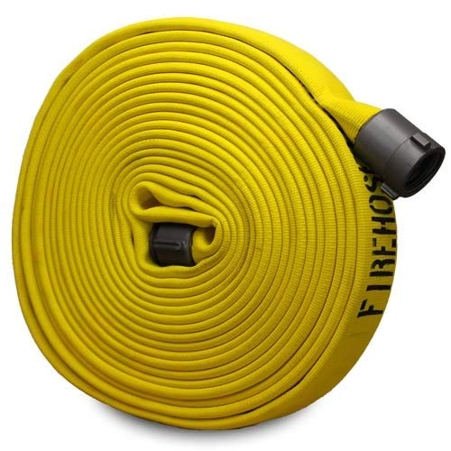 Yellow 1 3//4 x 50 Double Jacket Fire Hose with Aluminum 1 1//2 NH Couplings