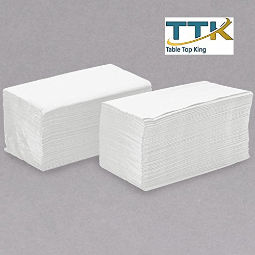 15'' x 16 3/4'' White 2-Ply Customizable Dinner Napkin - 3000/Case by TableTop king by TableTop King