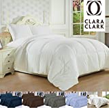 Clara Clark White Goose Down Alternative Comforter, Twin/Twin XL, Feather Light and Warm Edition
