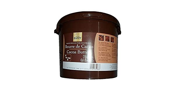Amazon.com : Cacao Barry Cocoa B Cocoa Butter, Pistolesoles, 3 Kg (Pack of 1) : Baking Cocoa : Grocery & Gourmet Food