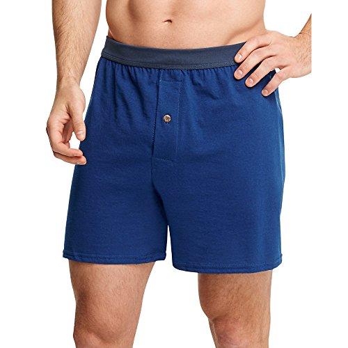 Hanes Men's ComfortSoft Knit Boxers ComfortSoft Waistb& 5-Pack_Assorted_L