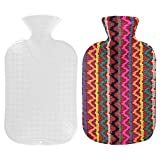 Fashy Hot Water Bottle 67oz with Indian Pattern Cover