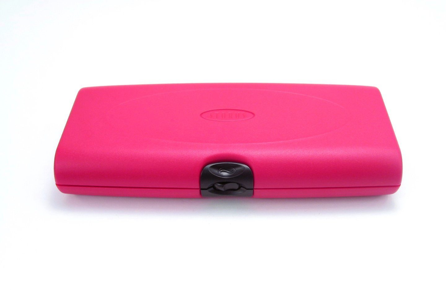 Storus Smart Jewelry Case-Tangle Free, Double-Sided Anti Tarnish Jewelry Case-Made of Advanced Shock Resistant Plastic-Pink Color-Automated Opening System-Measures 9.5'' Long x 4'' Wide x 1.5'' Deep