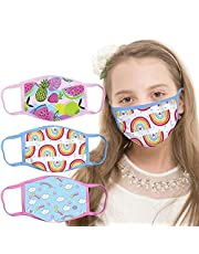 Kids Reusable Face Mask Cute Design Boys Girls Face_Mask_Protect_Cover,Washable Anti Dust Unisex Cotton Cloth Face Cover