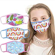 Kids Reusable Face Mask Cute Design Boys Girls Face_Mask_Protect_Cover,Washable Anti Dust Unisex Cotton Cloth
