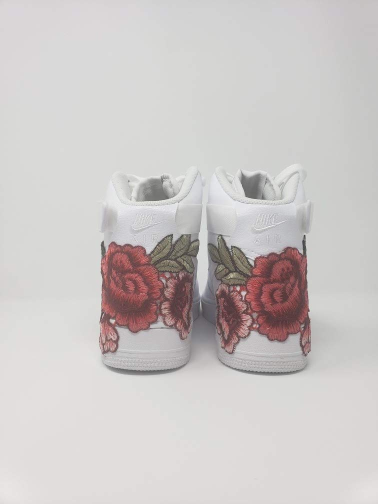 ca74577b16a57 Amazon.com: Custom Flower Bomb Embroidery AIR FORCE 1 HIGH: Handmade