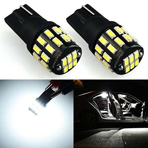 JDM ASTAR Extremely Bright 3014 Chipsets 168 175 194 2825 W5W T10 New Style LED Bulbs,Xenon White (Interior Use Only)