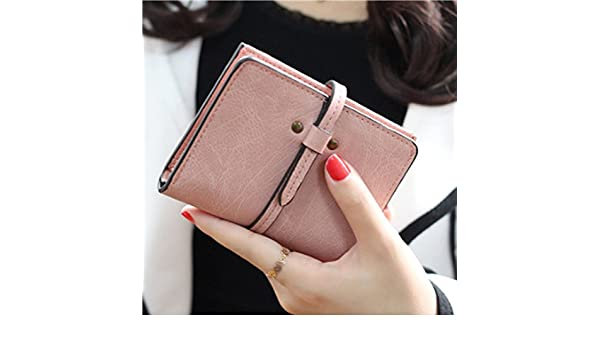 Amazon.com : JD Million shop Solid Vintage Women Wallet Fashion Small Female Card Holder Mini Carteras Mujer Femininas Purse (Pink115) : Everything Else