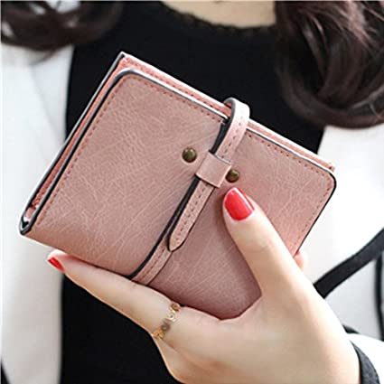 JD Million shop Solid Vintage Women Wallet Fashion Small Female Card Holder Mini Carteras Mujer Femininas