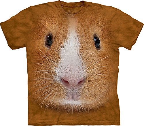 The Mountain Men's Guinea Pig Face T-shirt, Medium Brown, Medium (Pig Face)