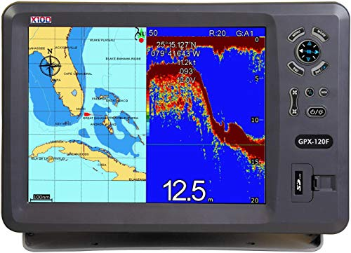 (X10D GPS Chartplotter GPX-120F Complete with Plastic Thru-Hull transducer)