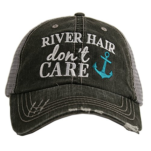 River Hair Don't Care ANCHOR Women's Trucker Hat Cap by Katydid ()
