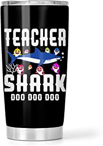 Teacher Shark Doo Doo Doo Stainless Steel Tumbler 20oz Travel Mug