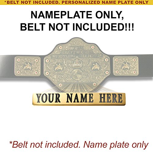 Personalized Nameplate for Adult WCW World Heavyweight Championship Replica Belt by WWE