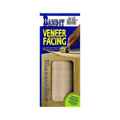 Band-It 12950 Paper Back Real Wood Veneer Facing, White Birch, 12