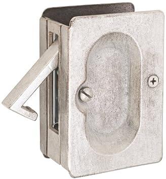 Emtek 2101 3 1/2 Inch Height Passage Pocket Door Lock, Polished Chrome