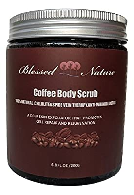 Coffee Body Scrub with Dead Sea Salt 200G 6.8 fl.oz. Deep Skin Exfoliator