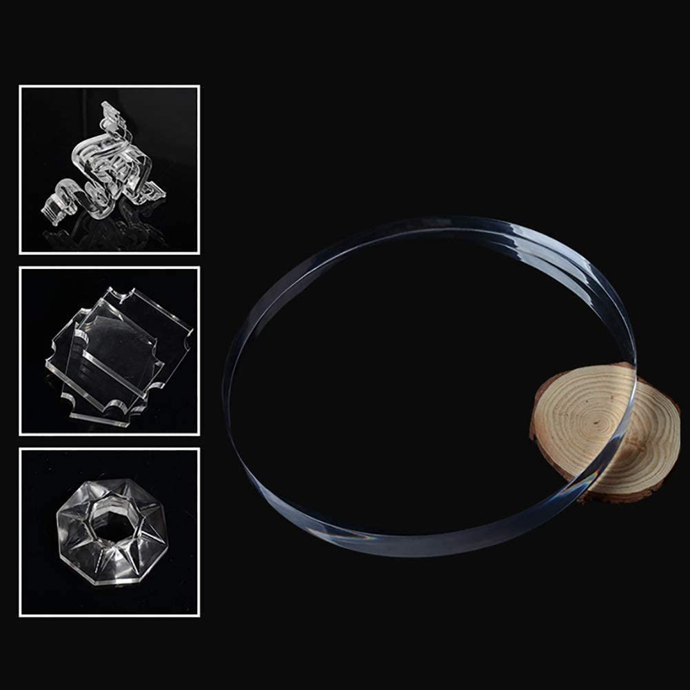 10cm 100mm Thickness:4mm,Diameter Diameter DSFHKUYB Clear Perspex Acrylic Plastic Sheet Round Circle Board for DIY Industry Display