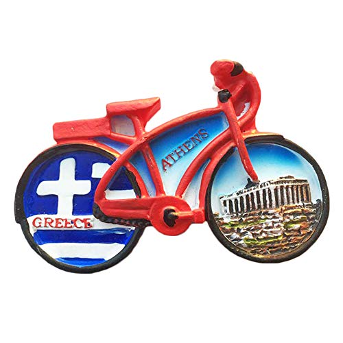 3D Athens Greece Bicycle Refrigerator Magnet Tourist Souvenirs Stickers,Home & Kitchen Decoration Greece Fridge Magnet From China