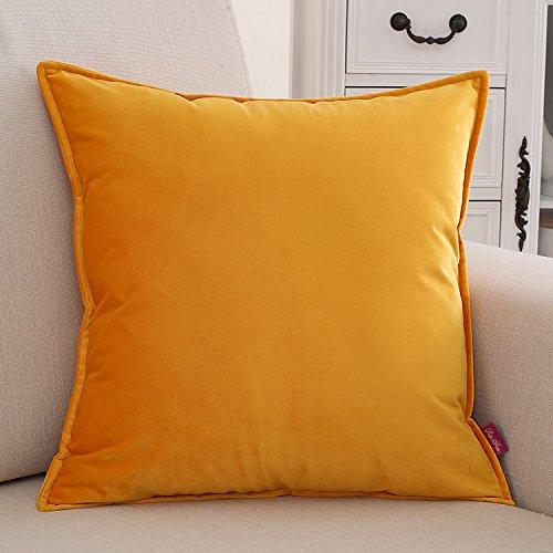 Teebxtile Haut confort velours en laine de dos dos dos support de coton simple Farbe unie, 60x60cm (oreiller-no-Cell), l'Orange B077RW1KQP Kopfkissenbezüge 4f46f1