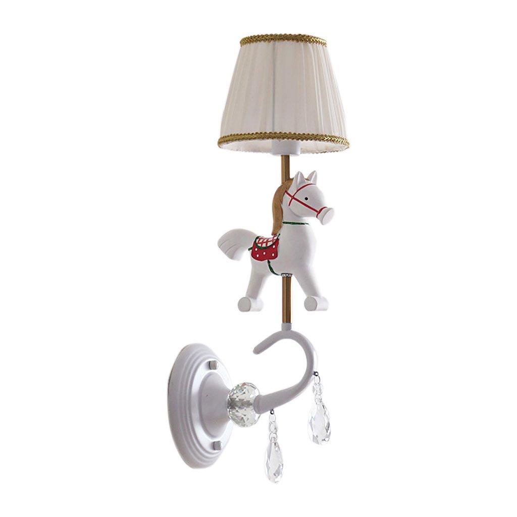 Unbekannt QIQIDEDIAN Karussell Kinderzimmer Wandleuchte Cute Boy Girl Nachttischlampe Schlafzimmer Lampe