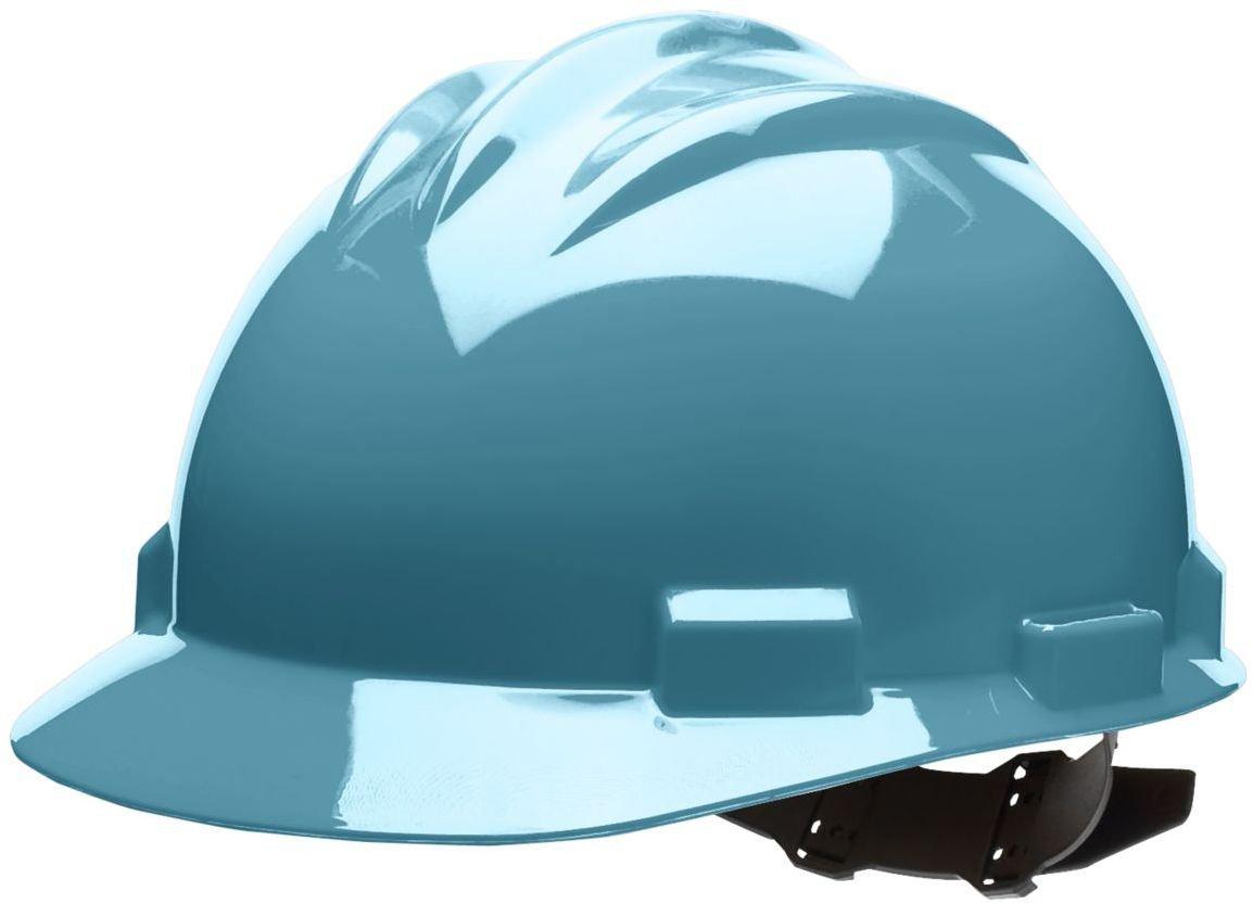 Bullard 61SLP Standard Series Cap Style Hard Hat One Size Slate Blue 4 Point Pin Lock Suspension Cotton Brow Pad