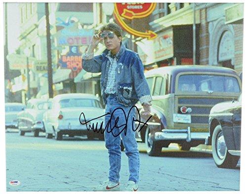 - Michael J Fox Autographed 16