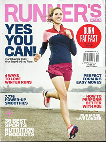 Runners Magazine World - RUNNER'S WORLD MAGAZINE, YES YOU CAN ! * BURN FAT FAST FEBRUARY, 2019 PRINTED IN UK ( PLEASE NOTE: ALL THESE MAGAZINES ARE PET & SMOKE FREE MAGAZINES. NO ADDRESS LABEL. FRESH FROM NEWSSTAND) (SINGLE ISSUE MAGAZINE)