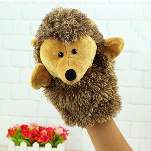 Hand Puppet,Cute Cartoon Animal Doll Kids Glove Hand Puppet Soft Plush Toys Story Telling - Dog,Duck,Hedgehog,Crocodile,Orangutan,Donkey (Hedgehog, Animal hand puppet)