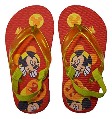 Disney Micky Maus Flip-Flops, Schlappen, Meer, von 22bis 27–D09983/3,rot 26/27 rot Rot