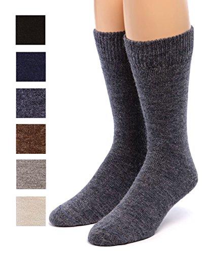 Warrior Alpaca Socks - Womens Outdoor Alpaca Wool Socks, Terry Lined with Comfort Band Opening