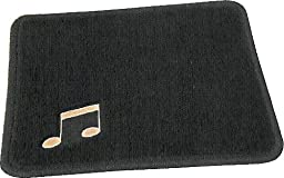 Deluxe Sav-a-Rug Piano Pedal Pad - For Carpet Protection - Black