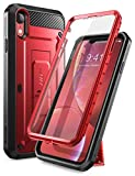 SUPCASE Unicorn Beetle Pro Series Designed for iPhone XR Case, with Built-In Screen Protector Full-Body Rugged Holster Case for Apple iPhone XR 6.1 Inch (2018 Release) (MetallicRed)