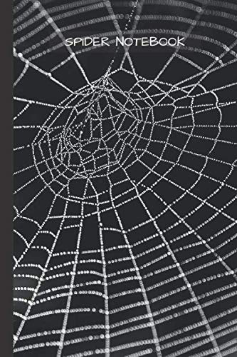 """Spider Notebook: Spider Net Cobweb notebook blank pages - Journal to write in - 120 pages - 6""""x9"""""""