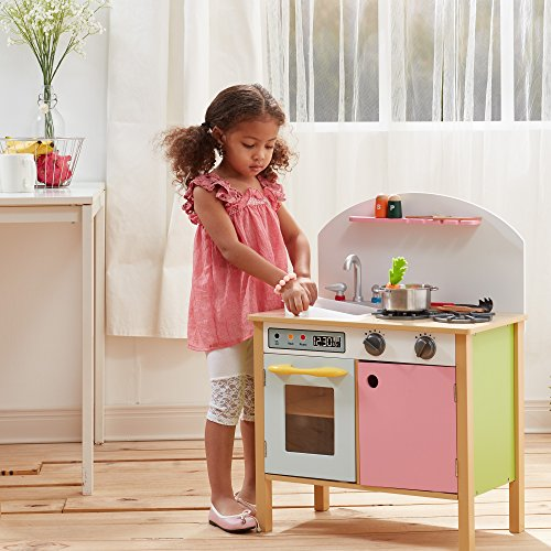 Pink Kitchen For Kids: Pink Play Kitchen With Dual Doors