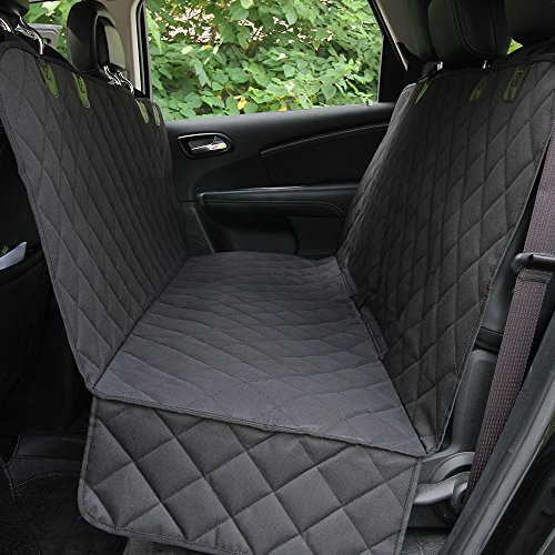 HONEST OUTFITTERS Honest Luxury Quilted Dog Car Seat Cover With Side Flap Pet Backseat cover for Cars, Trucks, and Suv's - WaterProof & NonSlip Diamond Pattern Dog Seat Cover by HONEST OUTFITTERS (Image #2)