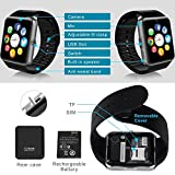 Bluetooth-Smart-Watch-with-SIM-Card-Slot-for-IOS-iPhone-Android-Samsung-HTC-Sony-LG-Smartphones-Silver-Black
