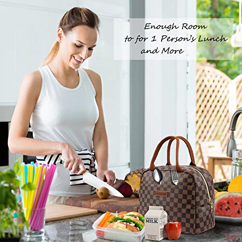 9c9d38a5602d WODKEIS Lunch Bags For Women Insulated Lunch Box Cooler Bag Water-resistant  Thermal Lunch Tote Bag Soft Leak Proof Lunch Holder for ...