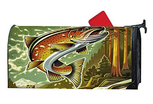 Decorative Magnetic Mailbox Cover Standard Mailbox Wrap with Animals Design for 6.5 x 19 Mailboxes - Fish Artwork ()