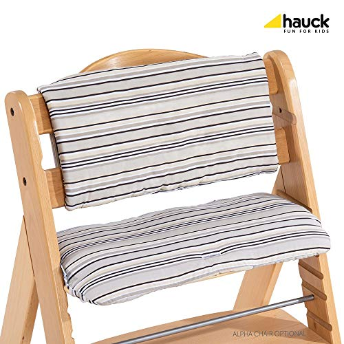 Hauck High Chair - Hauck Alpha Seatpad, Seat Cushion for Wooden Highchair Hauck Alpha+, Highchair Insert with Easy Fixing and Cleaning, Multicolor Beige
