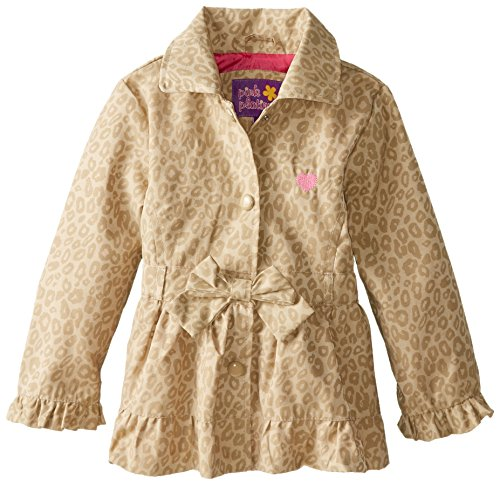 Girls' Khaki Jacket Tonal Little Pink Leopard Platinum UgxEOO