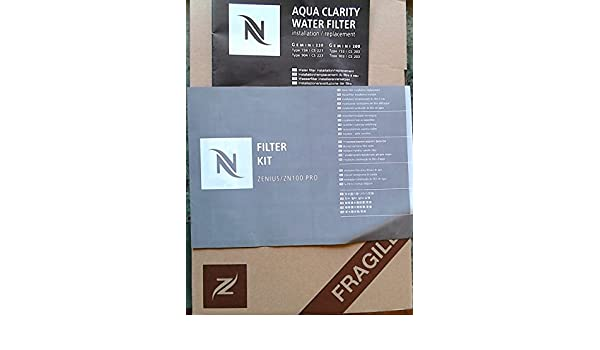 Nespresso Aqua Clarity - Filtro de agua kit (2 pieza) para Gemini CS 203/223 y Zenius 100: Amazon.es: Hogar