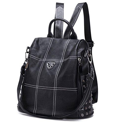 JUND - Bolso mochila para mujer Negro Negro Negro