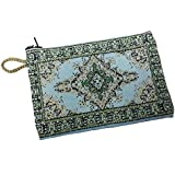 Icon Case Pouch Coin Purses Green & Blue Color 5.7