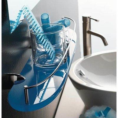 - Kor Bathroom Shelf Finish: Green, Size: 24