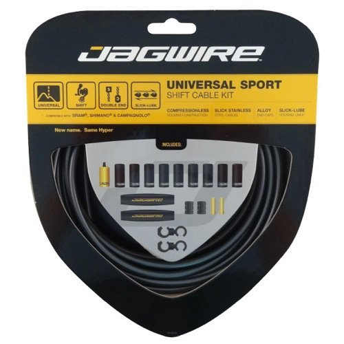 - Jagwire Hyper Derailleur DIY Cable Kit, Ice Gray