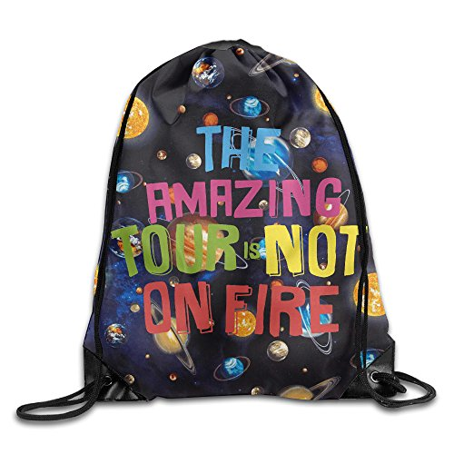 FOODE The Amazing Tour Is Not On Fire Travel Quotes Drawstring Backpack Sack - On Oakley Sale Bags