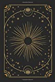 Tarot Journal, 100 Day 3 Spreads Reading, Black and Gold Modern Mystic Celestial Design: Clear, Organized, Easy to Track Progress with Cards Keyword, ... with Customized Table of Content
