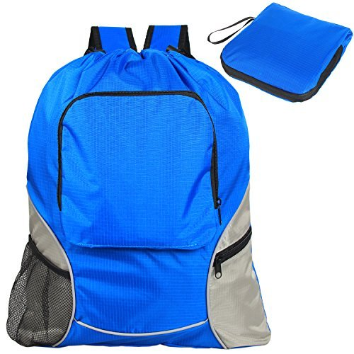 Teamoy Foldable Sackpack Drawstring Backpack with Straps, Pockets, Reflective Tapes – DiZiSports Store