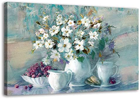 Flower Canvas Wall Art Pictures For Bedroom Living Room Decor Abstract White Floral Prints And Posters Colorful Artwork Still Life Stretched Paintings For Office Bathroom Gorgeous Wall Decorations Amazon Sg